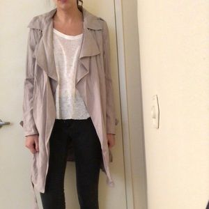 Forever 21 gray trench coat, new with tags